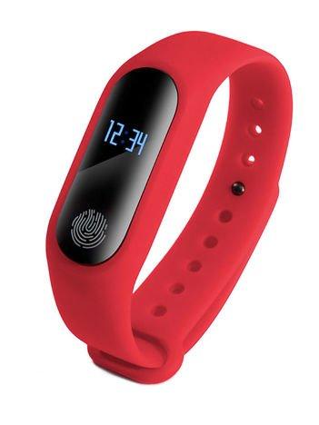 RONEBERG Smartwatch Smartband R2 Pulsometr Ciśnieniomierz Oksymetr Powiadomienia Długi czas działania Wodoodporny IP 67 Czerwony