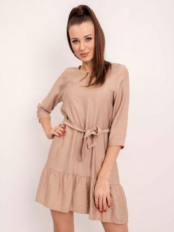 RUE PARIS Beżowa sukienka Ellaine