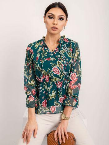 RUE PARIS Ciemnozielona bluzka Rosaline