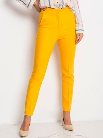 RUE PARIS Ciemnożółte spodnie Favorite