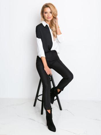 RUE PARIS Czarne spodnie Elegant