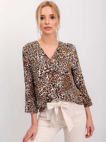RUE PARIS Czarno-beżowa bluzka Nella
