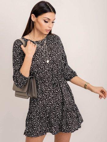 RUE PARIS Czarno-biała sukienka Riffle