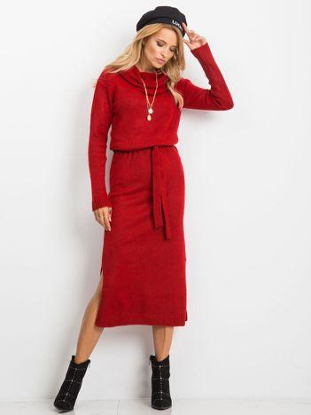 RUE PARIS Czerwona sukienka Peace
