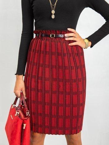 RUE PARIS Czerwono-czarna spódnica Diaz