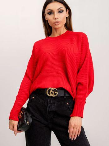RUE PARIS Czerwony sweter Pose