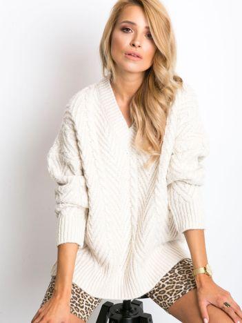 RUE PARIS Ecru sweter Maple