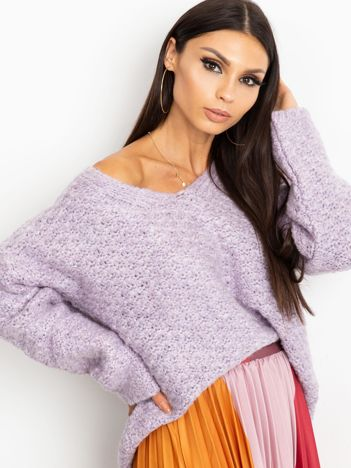 RUE PARIS Fioletowy sweter Lively