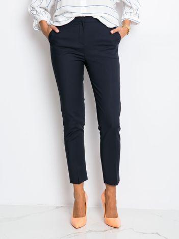 RUE PARIS Granatowe spodnie Diva