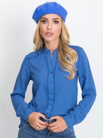 RUE PARIS Niebieska bluzka Flow