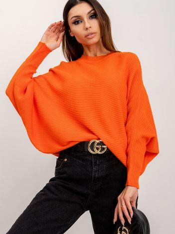 RUE PARIS Pomarańczowy sweter Pose