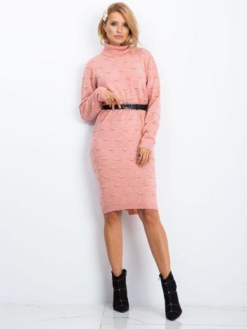RUE PARIS Różowa sukienka Silky