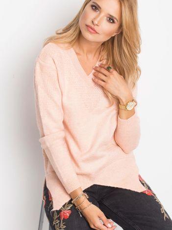 RUE PARIS Różowy sweter Believe