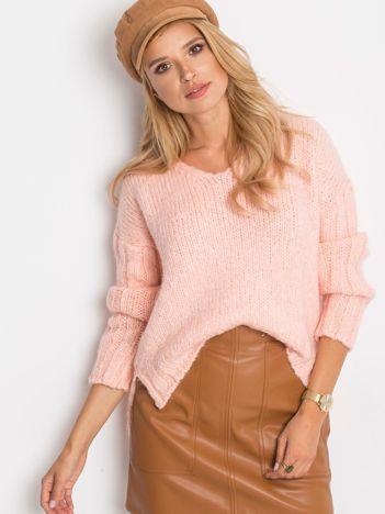 RUE PARIS Różowy sweter Gift