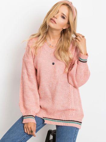 RUE PARIS Różowy sweter Romance
