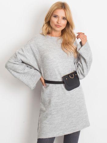 RUE PARIS Szary sweter Perfect