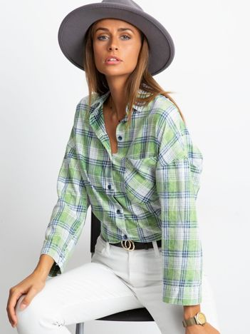 RUE PARIS Zielona koszula Ranger