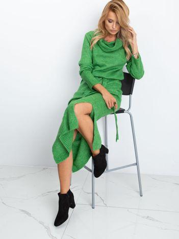 RUE PARIS Zielona sukienka Peace