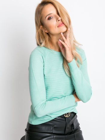 RUE PARIS Zielony sweter Sienna