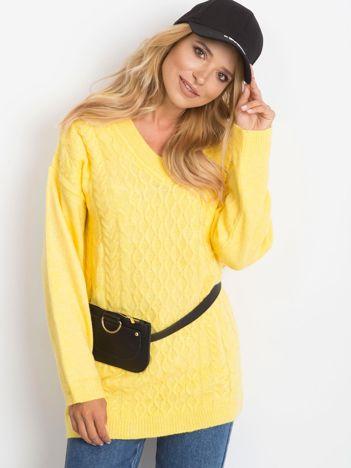 RUE PARIS Żółty sweter Chill