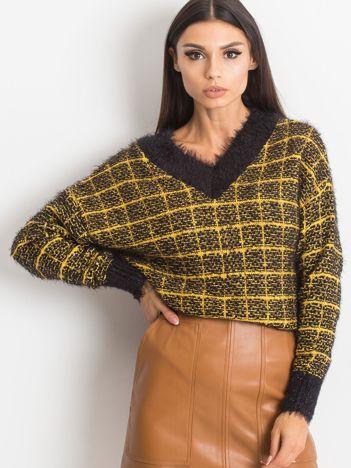 RUE PARIS Żółty sweter Happiness
