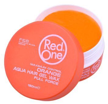 RedOne AQUA HAIR GEL WAX FULL FORCE ORANGE Wodny żelowy wosk do włosów ZAPACH MELONA 150 ML