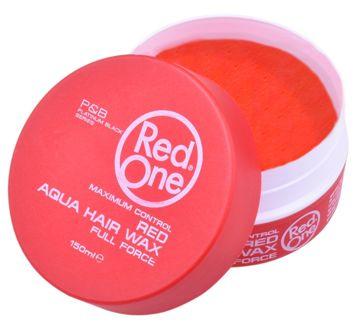RedOne AQUA HAIR GEL WAX FULL FORCE RED Wodny żelowy wosk do włosów ZAPACH TRUSKAWKI 150 ML