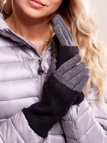 Rękawiczki damskie ciemnoszare