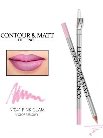Revers Kredka do ust z temperówką CONTOUR & MATT nr 4 pink glam 2g