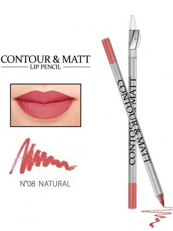 Revers Kredka do ust z temperówką CONTOUR & MATT nr 8 natural 2g