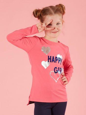 c63571c440 Różowa bawełniana bluzka dla dziewczynki