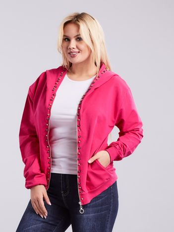 Różowa bluza dresowa PLUS SIZE