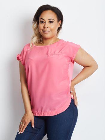 Różowa bluzka plus size Eponymous