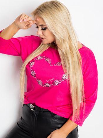 Różowa bluzka plus size Feelings