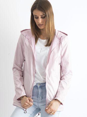 Różowa dwustronna kurtka wiatrówka