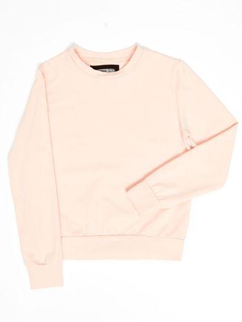 Różowa gładka bluza dziewczęca