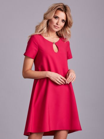 Różowa luźna elegancka sukienka