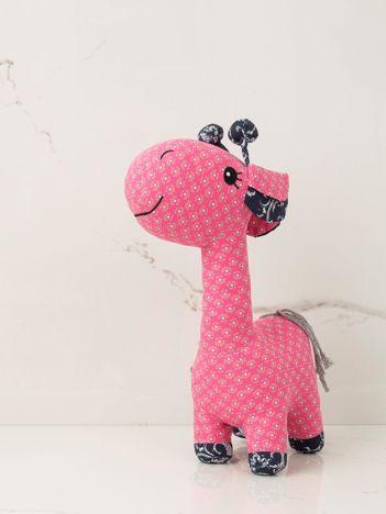 Różowa maskotka dziecięca Żyrafka