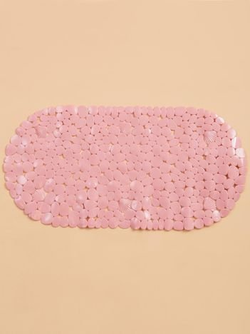 Różowa mata do łazienki