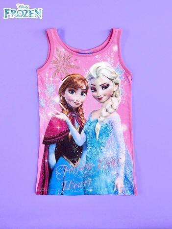 Różowa sukienka dla dziewczynki bez rękawów KRAINA LODU