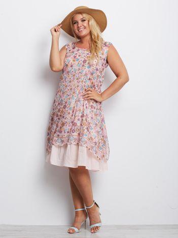 Różowa sukienka plus size Dakota