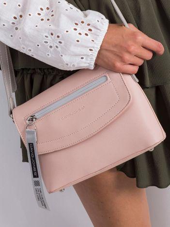 Różowa torebka damska z ekoskóry