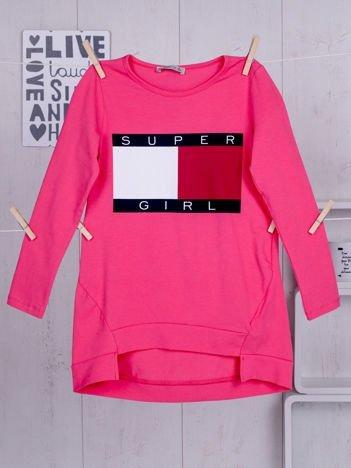 Różowa tunika dla dziewczynki Super Girl