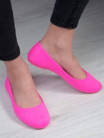 Różowe baleriny na elastycznej podeszwie