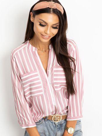 Różowo-biała bluzka Sienna