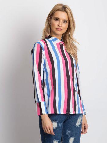 Różowo-biała koszula w paski