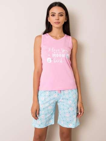 Różowo-niebieska piżama Beatrix
