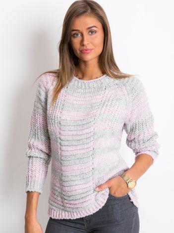 Różowo-szary sweter Cary
