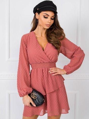 Różowobrązowa sukienka Violette RUE PARIS