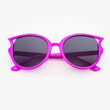 Różowofioletowe Dziecięce Okulary przeciwsłoneczne Z Metalicznym Połyskiem
